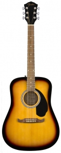 FENDER FA125 DREADNOUGHT SUNBURST WALNUT