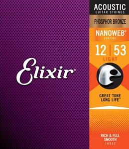 Elixir 16052 Nanoweb Phosphore Bronze Muta Per Chitara Acustica 12-53