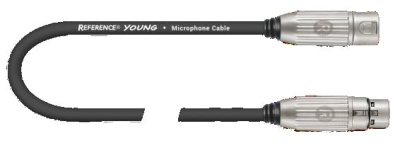 REFERENCE YOUNG CAVO MICROFONICO XLR 2 MT BLACK