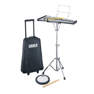 PEACE KIT METALLOFONO BK3000R 32 NOTE CON PAD E BORSA TROLLEY