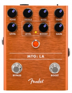 Fender Mtg La Tube Distortion Pedale Effetto