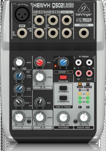BEHRINGER XENYX Q502 MIXER 5 CANALI CON SCHEDA AUDIO USB