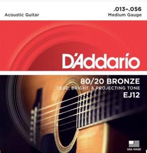 D'Addario Ej12 13 - 56 80/20 Bronze Muta Per Chitarra Acustica