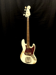 FENDER CUSTOM SHOP JAZZ BASS 61 HEAVY RELIC AGED OLYMPIC WHITE