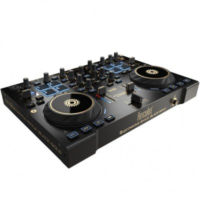 HERCULES DJ CONTROL RMX2 BLACK AND GOLD
