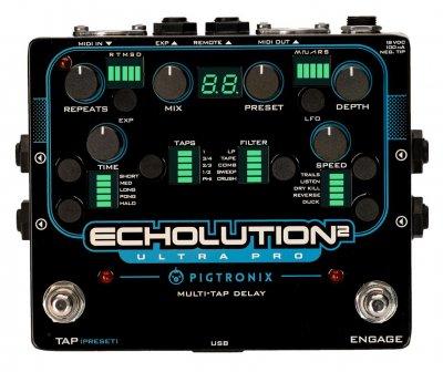 Pigtronix Echolution ultra pro e2u - modulation multitap delay programmabile