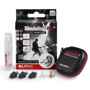 Alpine Kit Auricolari per Protezione Uditiva con 3 Filtri Attenuazione Black Ed