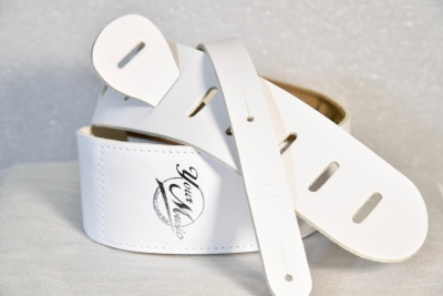 Your Music Tracolla 7 Cm In Cuoio Imbottita White Made In Italy