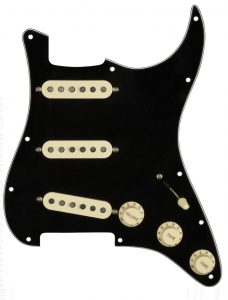 Fender Pre-Wired Stratocaster Pickguard Custom 69 Sss Black
