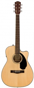 Fender Cc-60Sce Natural Chitarra Acustica Elettrificata