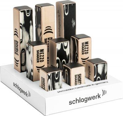 Schlagwerk Sk pos 1 - espositore shaker da tavolo con 3x sk 30, sk 35, sk 40