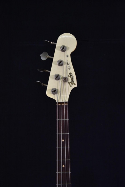 FENDER CUSTOM SHOP 66 JAZZ BASS HEAVY RELIC VINTAGE WHITE OVER SUNBURST 1