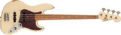 FENDER 60TH ANNIVERSARY ROAD WORN JAZZ BASS OLYMPIC WHITE