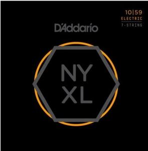 D'ADDARIO NYXL1059 NICKEL REGULAR LITE 10-59  7 STRING