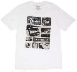 Fender T-Shirt Vintage Parts White Large