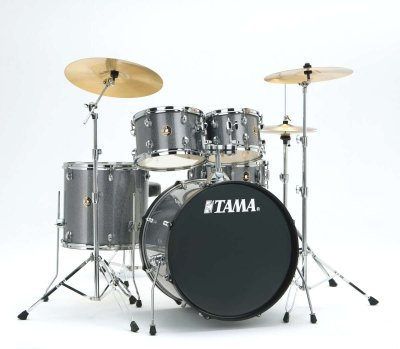 Tama Rm52kh6c-gxs - batteria completa + piatti - finitura galaxy silver