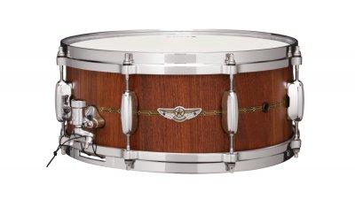 """Tama Tvw146s-own star stave walnut - 14""""x6"""" - finitura oiled natural walnut con intarsio in legno"""