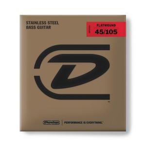 Dunlop Dbfs45105 Corde Flatwound Per Basso 45-105