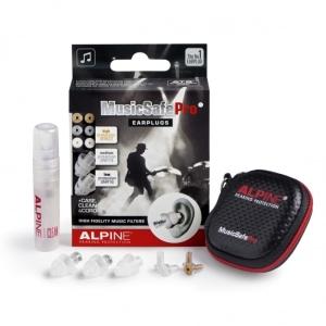 Alpine Kit Auricolari Protezione Uditiva con 3 Filtri Attenuazione Trasparenti