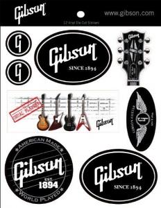 GIBSON LOGO GUITAR G-STICKER1 PACK