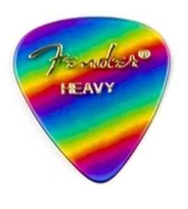 Fender Plettri 351 Misti Rainbow Heavy Pack 12 Pz