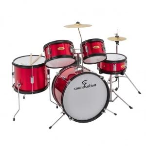 Soundsation Jdk100Mr Batteria Junior 5 Pz Metallic Red