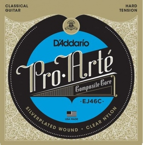 D'ADDARIO EJ46C PRO ARTE HARD TENSION 285-44