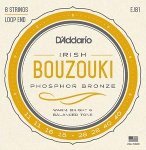 D'Addario Ej81 Muta Per Bouzouki Irlandese 8 Corde Phosphor Bronze