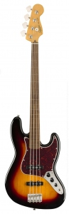 SQUIER CLASSIC VIBE 60S JAZZ BASS FRETLESS LAUREL 3 COLOUR SUNBURST