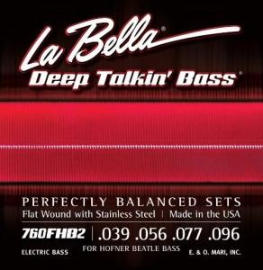 LA BELLA 0760FHB2 MUTA PER BASSO ELETTRICO 4 CORDE LISCE 39-96
