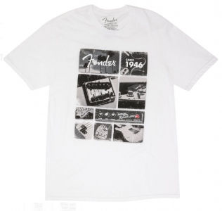 Fender T-Shirt Vintage Parts White Small