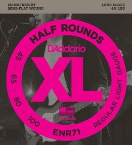 D'ADDARIO HALF ROUNDS 45-100 LONG SCALE MUTA PER BASSO ELETTRICO