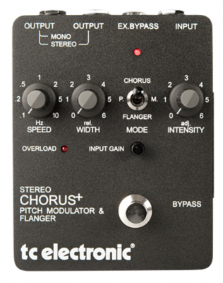 TC ELECTRONIC STEREO SCF CHOR FLANGER PEDALE EFFETTO