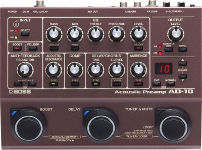 Boss Ad10 Acoustic Preamp Pedale Effetto