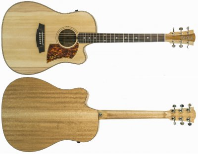 COLE CLARK  FAT LADY 2 DREADNOUGHT CUTWAY ELETTRIFICATA SERIE FL2