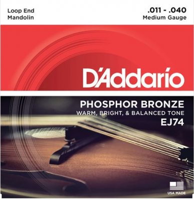 D'Addario Muta Ej74 Mandolino Bronze Medium