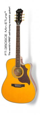 EPIPHONE FT-350SCE ANTIQUE NATURAL MIN-ETUNE