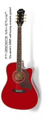 EPIPHONE FT-350SCE WINE RED MIN-ETUNE