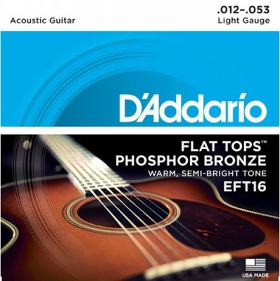 D'ADDARIO EFT16 FLAT TOP LIGHT 12-53
