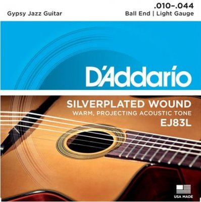 D'ADDARIO EJ83L GIPSY JAZZ BALL END LIGHT 10-44
