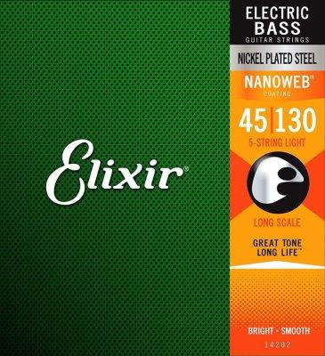 ELIXIR 14202 NANOWEB NICKEL PLATED MUTA PER BASSO ELETTRICO 45-130