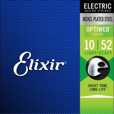 Elixir 19077 Optiweb Nickel Plated Steel Muta 10 52 Per Elettrica