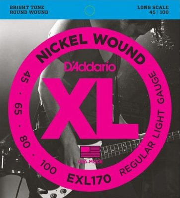D'Addario Exl170 Reg.Ligh Muta X 045-100