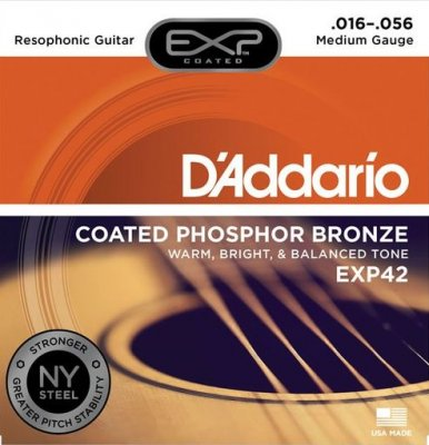 D'Addario Exp42 Muta Per Chitarra Resofonica 16-.56