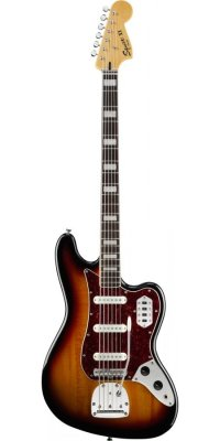 SQUIER VINTAGE MODIFIED BASS VI 3 TONE SUNBURST