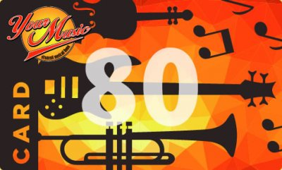 GIFT CARD BUONO REGALO EURO 80