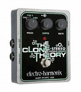 ELECTRO HARMONIX CLONE THEORY STEREO CHORUS PEDALE EFFETTO
