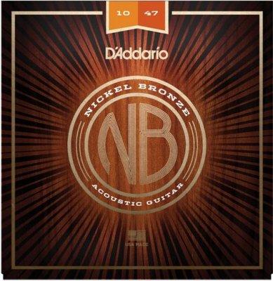 D'Addario Nb1047 Nickel Bronze Extra Light 10-47