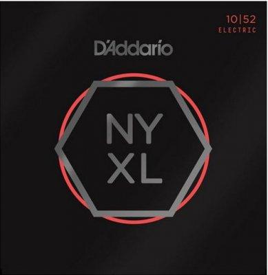 D'Addario Nickel Wound Lite Top Heavy Bottom 10-52
