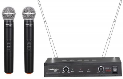 AUDIODESIGN PA MV10 SET MICROFONI WIRELESS
